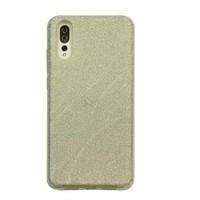Huawei P20 Glitter wave telefoonhoesje - Zilver
