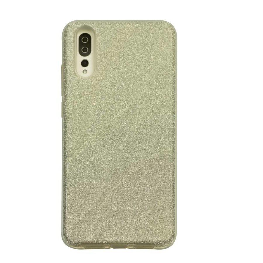 Huawei P20 Glitter wave telefoonhoesje - Zilver-1