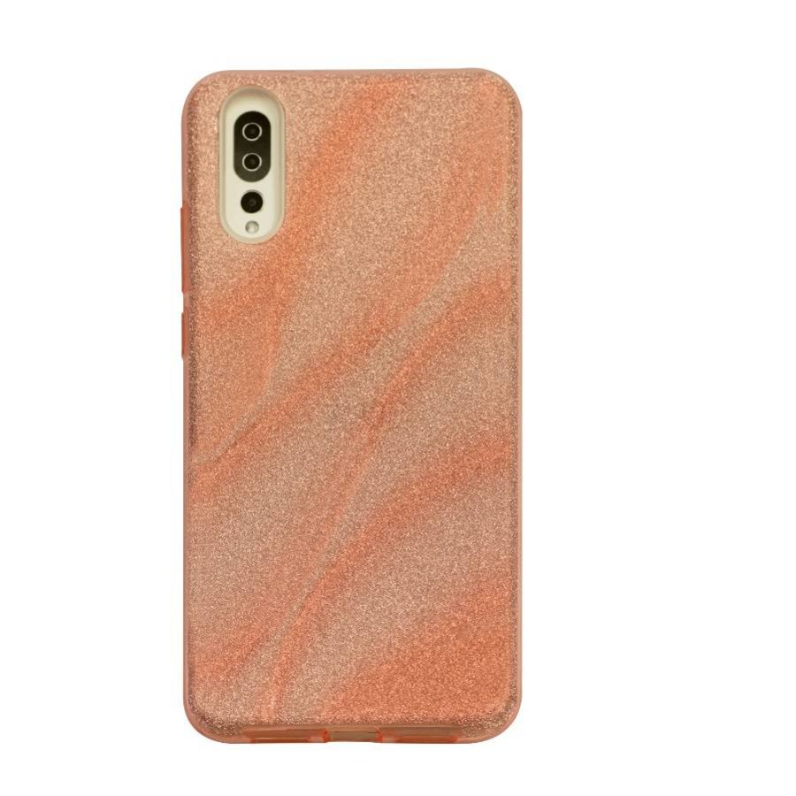 Huawei P20 Glitter wave telefoonhoesje - Roze-1
