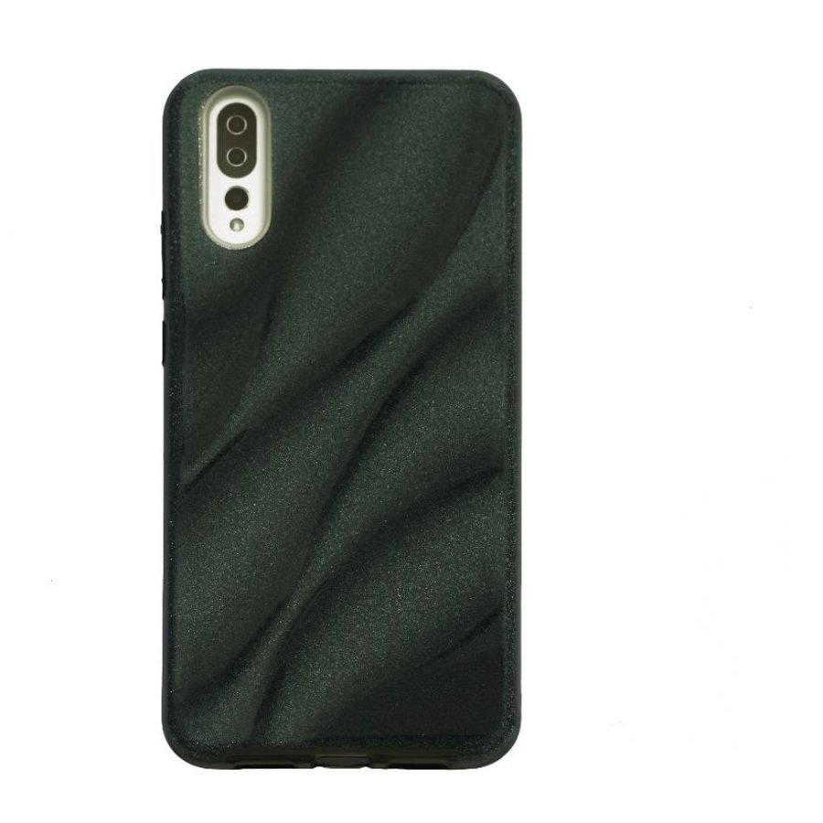Huawei P20 Glitter wave telefoonhoesje - Zwart-1