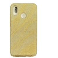 Huawei P20 Lite Glitter wave telefoonhoesje - Goud