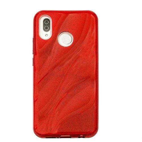 Huawei P20 Lite Glitter wave telefoonhoesje - Rood
