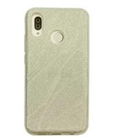 Huawei P20 Lite Glitter wave telefoonhoesje - Zilver