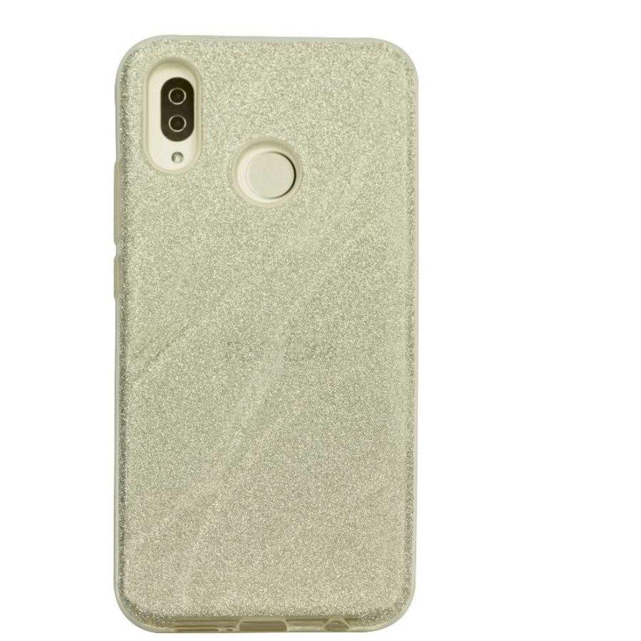 Huawei P20 Lite Glitter wave telefoonhoesje - Zilver-1
