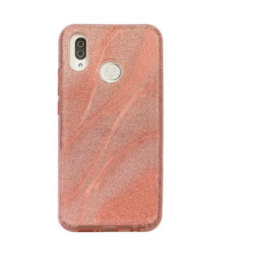 Huawei P20 Lite Glitter wave telefoonhoesje - Roze