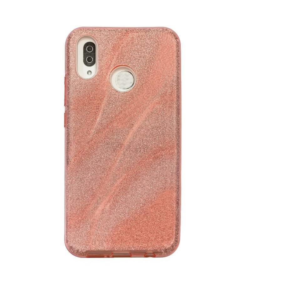 Huawei P20 Lite Glitter wave telefoonhoesje - Roze-1