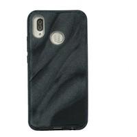 Huawei P20 Lite Glitter wave telefoonhoesje - Zwart