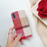 thumb-Apple Iphone XS Max Vintage telefoonhoesje - Rood-2