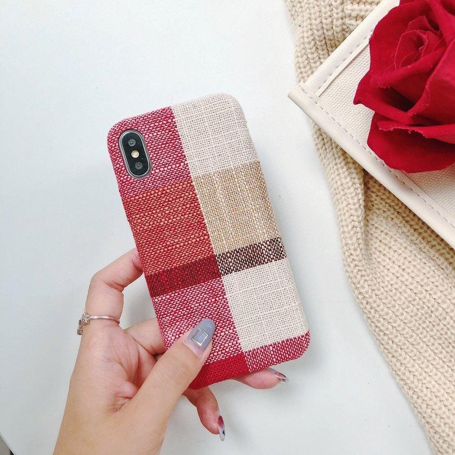 Apple Iphone XS Max Vintage telefoonhoesje - Rood-2