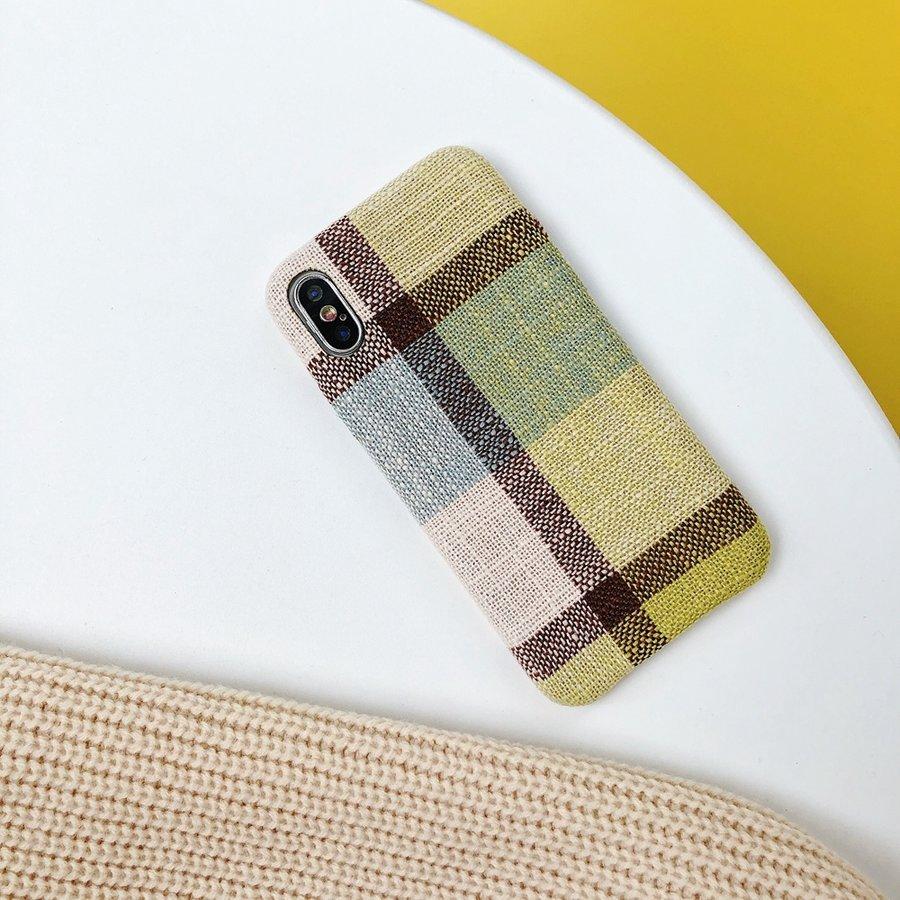 Apple Iphone X Vintage telefoonhoesje - Geel-2