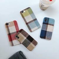 thumb-Apple Iphone X Vintage telefoonhoesje - Bruin-2