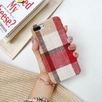 thumb-Apple Iphone 8 Plus Vintage telefoonhoesje - Rood-2
