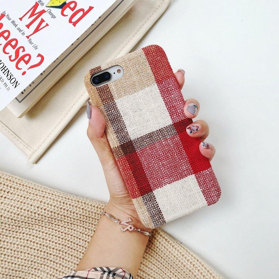 Apple Iphone 8 Plus Vintage telefoonhoesje - Rood-2