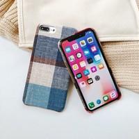 thumb-Apple Iphone 8 Plus Vintage telefoonhoesje - Blauw-2