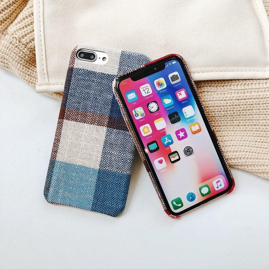 Apple Iphone 8 Plus Vintage telefoonhoesje - Blauw-2