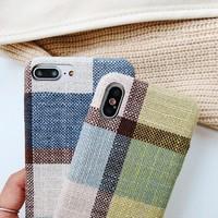thumb-Apple Iphone 8 Plus Vintage telefoonhoesje - Blauw-3