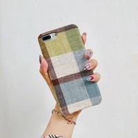 thumb-Apple Iphone 8 vintage telefoonhoesje - Geel-2
