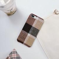 thumb-Apple Iphone 8 Vintage telefoonhoesje - Bruin-2