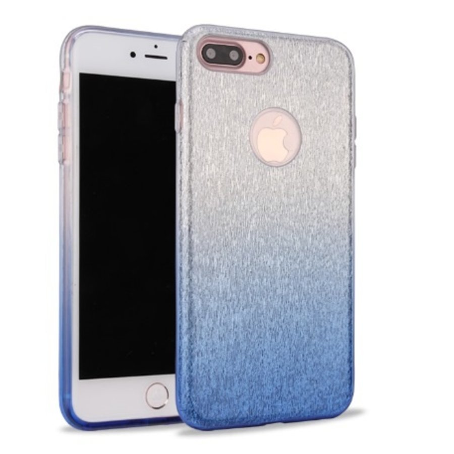 Apple Iphone 7 Semi Glitter telefoonhoesje - Blauw-1