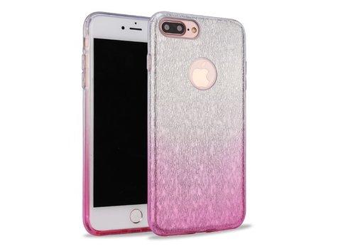 Apple Iphone 7 Semi Glitter telefoonhoesje - Roze