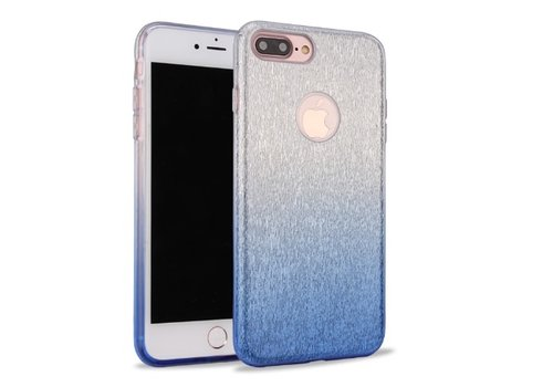 Apple Iphone 8 Semi Glitter telefoonhoesje - Blauw
