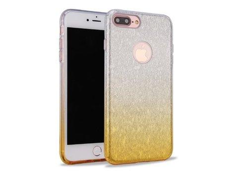 Apple Iphone 8 Semi Glitter telefoonhoesje - Geel