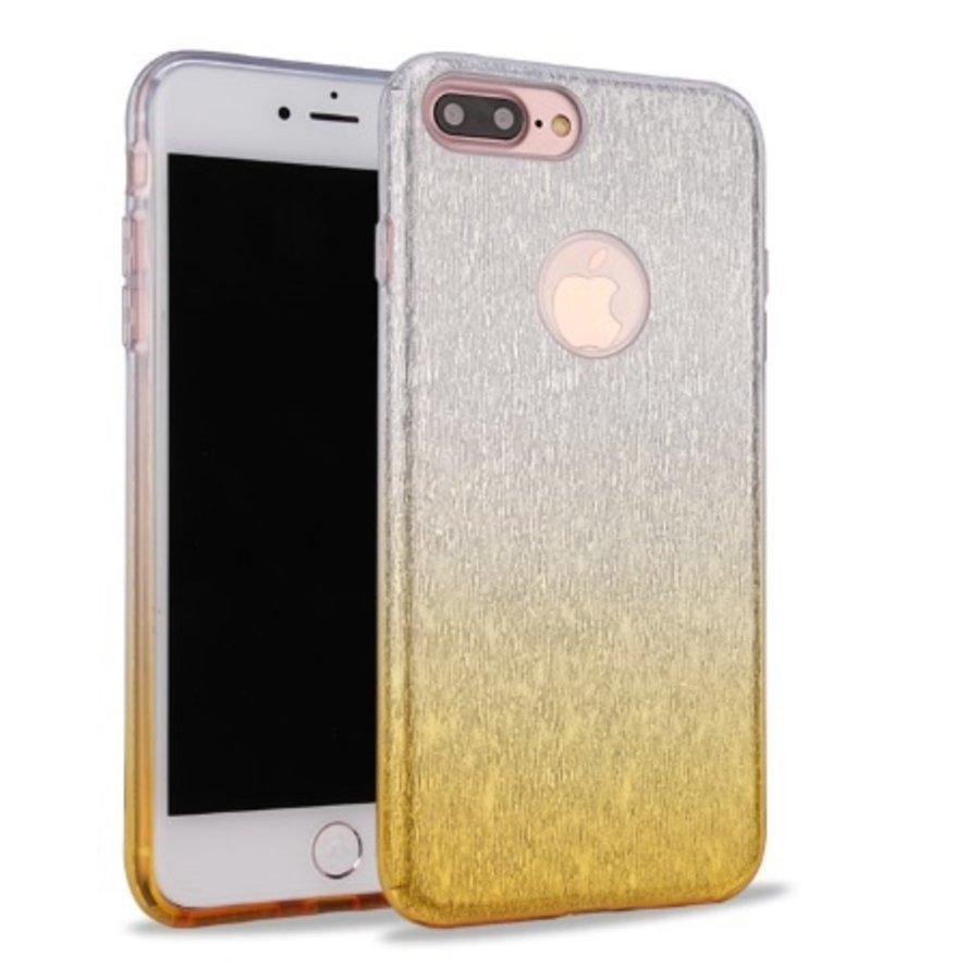 Apple Iphone 8 Semi Glitter telefoonhoesje - Geel-1