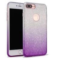 Apple Iphone 8 Semi Glitter telefoonhoesje - Paars