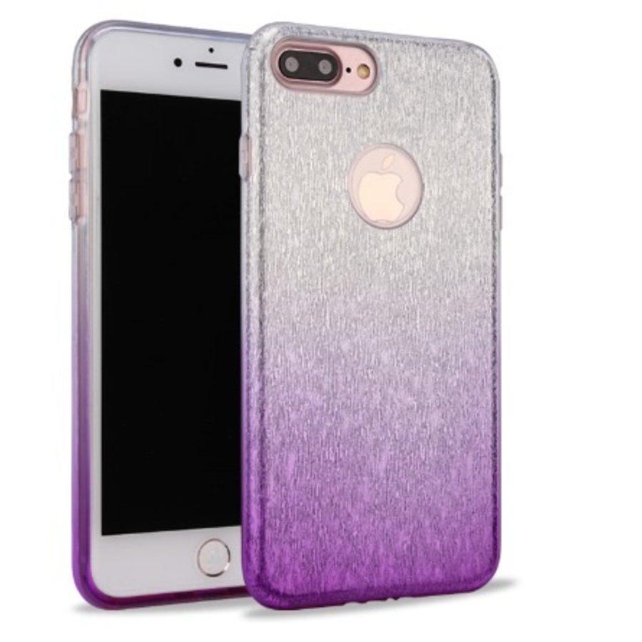 Apple Iphone 8 Semi Glitter telefoonhoesje - Paars-1