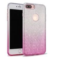 Apple Iphone 8 Semi Glitter telefoonhoesje - Roze