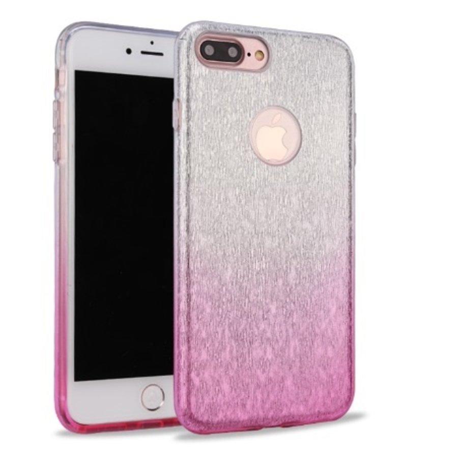 Apple Iphone 8 Semi Glitter telefoonhoesje - Roze-1