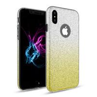 Apple Iphone X Semi Glitter telefoonhoesje - Geel