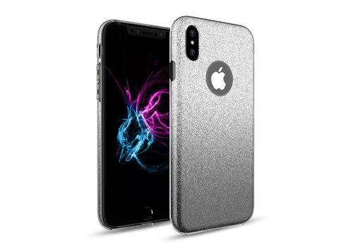 Apple Iphone XS Semi Glitter telefoonhoesje - Zwart