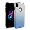 Apple Apple Iphone XS Semi Glitter telefoonhoesje - Blauw