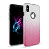 Apple Apple Iphone XS Semi Glitter telefoonhoesje - Roze