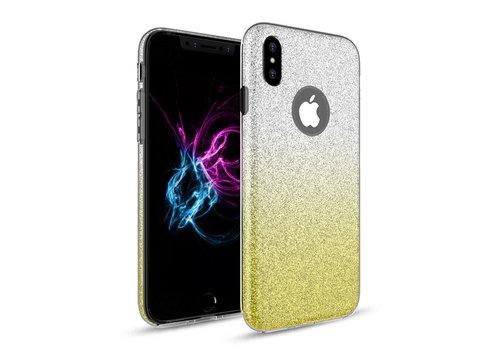 Apple Iphone XS Semi Glitter telefoonhoesje - Geel