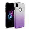 Apple Apple Iphone XS Semi Glitter telefoonhoesje - Paars