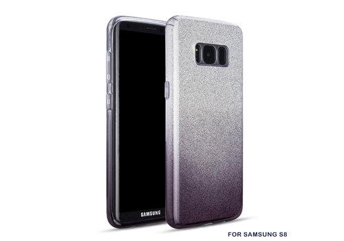 Samsung S8 Semi Glitter telefoonhoesje - Zwart