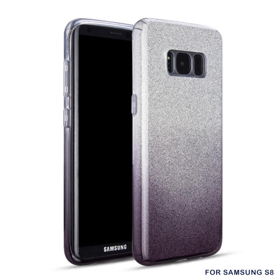 Samsung S8 Semi Glitter telefoonhoesje - Zwart-1