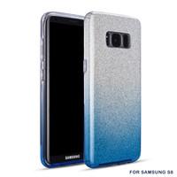 Samsung S8 Semi Glitter telefoonhoesje - Blauw