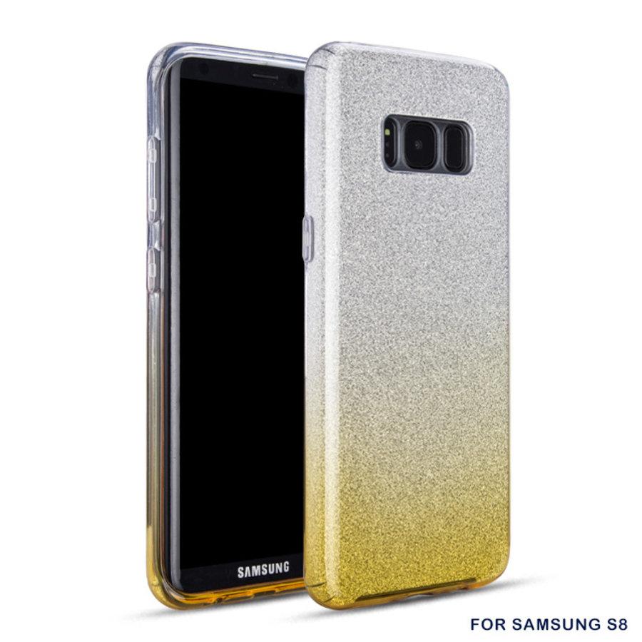 Samsung S8 Semi Glitter telefoonhoesje - Geel-1