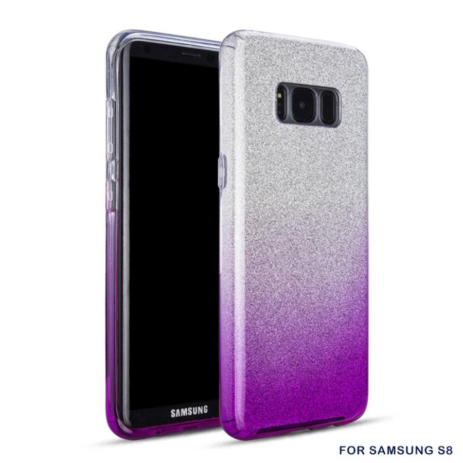 Samsung S8 Semi Glitter telefoonhoesje - Paars-1