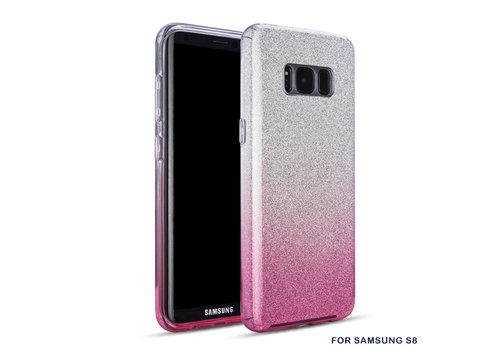 Samsung S8 Semi Glitter telefoonhoesje - Roze