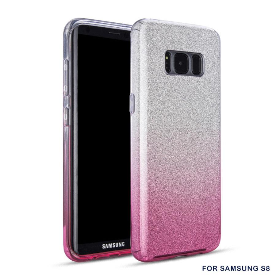 Samsung S8 Semi Glitter telefoonhoesje - Roze-1