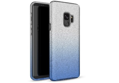 Samsung S9 Semi Glitter telefoonhoesje - Blauw