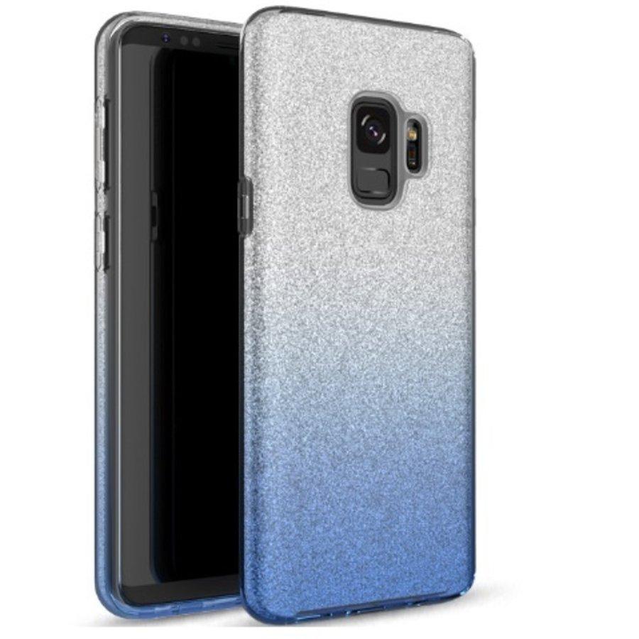 Samsung S9 Semi Glitter telefoonhoesje - Blauw-1