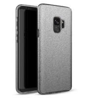 Samsung S9 Semi Glitter telefoonhoesje - Zwart