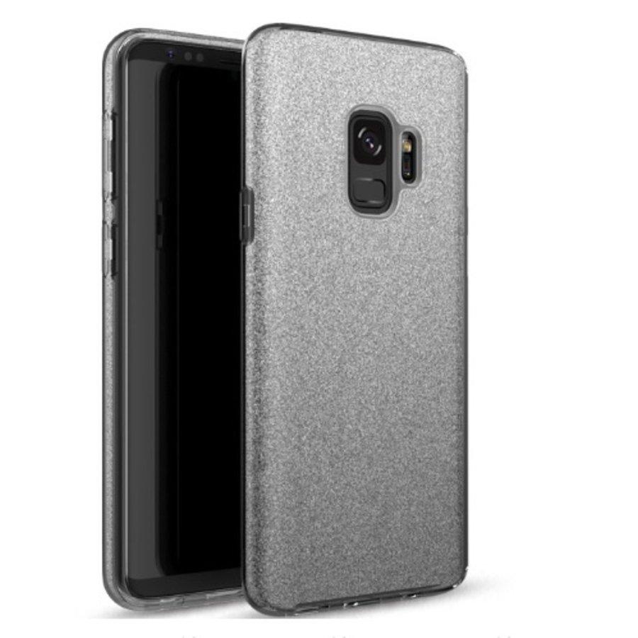 Samsung S9 Semi Glitter telefoonhoesje - Zwart-1