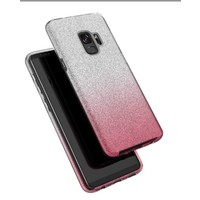 thumb-Samsung S9 Semi Glitter telefoonhoesje - Roze-2