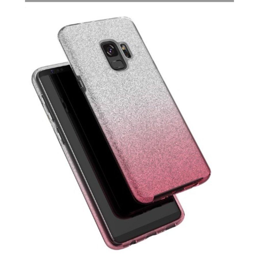 Samsung S9 Semi Glitter telefoonhoesje - Roze-2